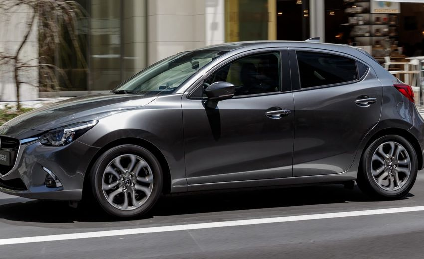 Mazda2 metallic gray
