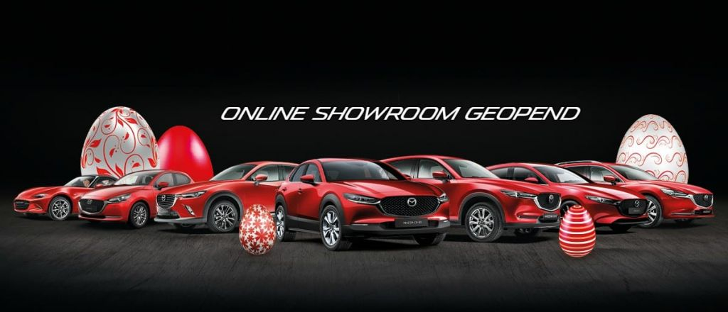 Online Mazda showroom geopend